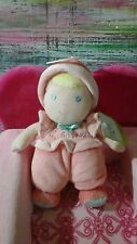 NWT BABY STARTERS DOLL BABY LOVEY MY FIRST DOLL PLUSH RATTLE PEACH AQUA PINK