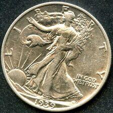 1939-S (AU) 50C SILVER WALKING LIBERTY HALF DOLLAR