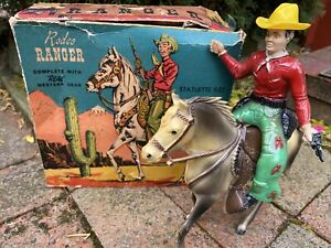 Vintage Rodeo Ranger A Lido Toy Cowboy Western Horse Ranch