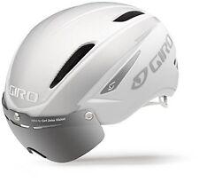 Giro Air Attack Shield Helmet Matte White/Silver Large Adults Bike Helmet, New
