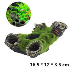 Aquarium Mountain View Moss Tree House Resin Cave Fish Tank Ornament Decoration