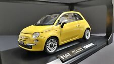 1/18 Diecast Norev 🇮🇹 Fiat 500 Lounge * Yellow with Sunroof Brsnd New*