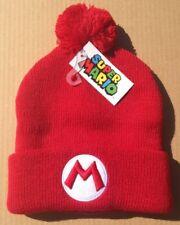 Nintendo Super Mario Bros Pom Beanie Winter Hat EMBROIDERED Cap