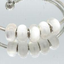 5pcs silver MURANO Cat's eye European Charm beads fit Necklace Bracelet DIY V230