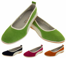 Patternless Suede Casual Flats for Women