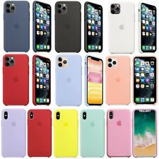 For Apple iPhone 11 Pro Max XR XS 8 7 Plus Genuine OEM Soft Silicone Case Cover