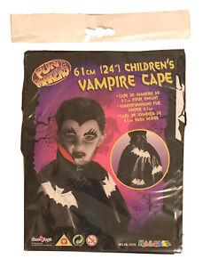 "Children's Vampire Cape 61cm (24"") Halloween Dracula Fancy Dress"