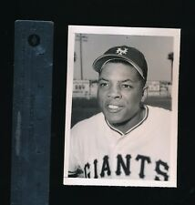 1957 Type 1 Photo Willie Mays portrait june 23 seattle times 3x5 20 3B that year