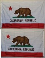 3x5 California State Double Sided Super Polyester flag 3'x5' banner grommets