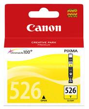Genuine Canon Cli526y Yellow Color Ink Cartridge Pixma Inkjet Printer Chromalife