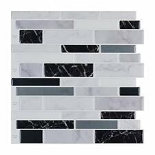 10-Sheet Peel and Stick Tile Backsplash, Vinyl 3D Self-Adhesive Tile S 10-Sheets