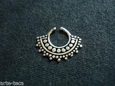 fake septum vero argento 925 piercing naso senza buco anello setto nasale