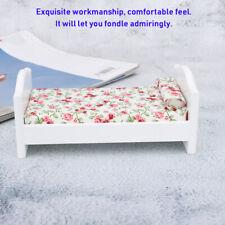 1/12 Mini Einzelbett Puppenhaus Miniatur Möbel Mini Blumen Puppenstube Bett