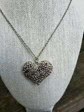 Filigree Puffy Heart Pendant Necklace