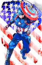 Captain America Marvel Superhero 11 x 17 High Quality Poster