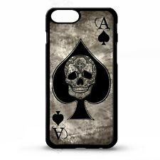 Ace of spades tattoo skull playing card poker blackjack graphic phone case cover