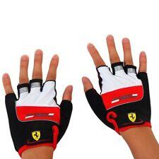 Guanti Mezze Dita Scuderia Ferrari Guanti Moto  Bici Auto Sport, Rosso..