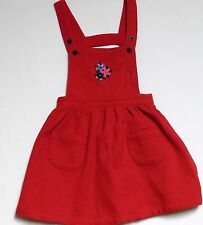 "Gymboree ""School Yard"" Vintage Red Overall Jumper Dress, M (3-4 yrs)"