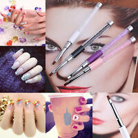LC_ BA _ STRASS Painting MANICURE Spazzola PENNA NAIL ART GEL DISEGNO ACCESSORI
