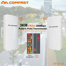 2Pc 3km 300Mbps Outdoor CPE Bridge Wireless Access Points wifi extender booster