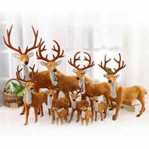 15/20/25cm Plush Christmas Deer Scene Props Christmas Ornaments New Year Gifts