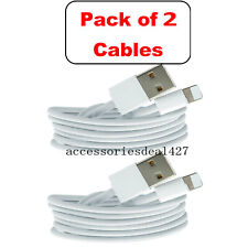 2Pack 3Ft Usb Cable For Original Apple iPhone 5s 6s 7 8 Plus X Lightning Charger