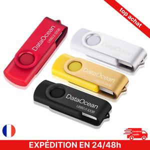 Lot de 4 Clé USB 32 Go 2.0 Flash Drive Stockage Rotation Disque Mémoire 4couleur