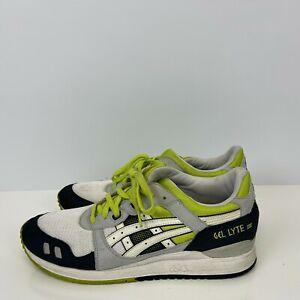 Asics Gel Lyte III Running Shoes White Black Lime Green Mens Size 12