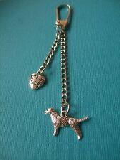 Labrador Dog 2x Charms Keyring Metal Bag Key Ring Puppy Love My Dog Retriever