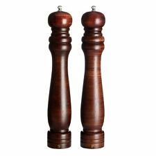 Salt and Pepper Mill Set (12in), Rubberwood, Ceramic Grinding Mechanism