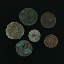 Ancient Coins Roman Artifacts Figural Mixed Lot of 6 B6536