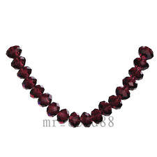 100/500pcs 6x4mm Faceted Glass Crystal Charms Rondelle Loose Beads 111Colors