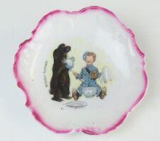 ANTIQUE Porcelain CHILD'S PLATE Outcault BUDDY TUCKER Teddy Bear GERMANY