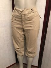 REI Cargo Pants 50 UPF quick dry Cropped Hiking Outdoor Size 14