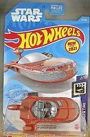 2021 Hot Wheels #12 Screen Time-Star Wars 2/10 X-34 LANDSPEEDER Brown w/MW Spoke