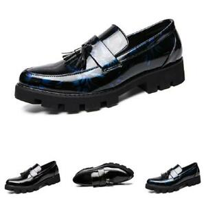 Mens Leisure Faux Leather Shoes Tassels Business Pointy Toe Oxfords Nightclub L