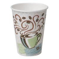 Dixie PerfecTouch Paper Hot Cups 12 oz Coffee Haze 160/Pack 960/Carton 5342CDSBP