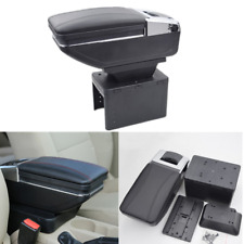 Universal Black PU Leather Car Seat Center Box Armrest Console Storage Organizer