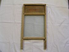 (1) VINTAGE NATIONAL WOOD AND GLASS WASHBOARD - No: 512