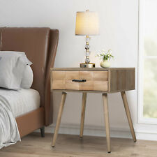 Nightstand Bedside End Table Storage Cabinet with Drawer Bedroom Furniture