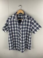 Polo Villae Men's Short Sleeve Shirt - Size 52 (Large) - Blue White Check