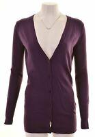 REPLAY Womens Cardigan Sweater Size 10 Small Purple Viscose  NA34