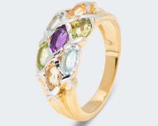 Harry Ivens IV Ring Silber 925 vergoldet Multicolore Edelsteine
