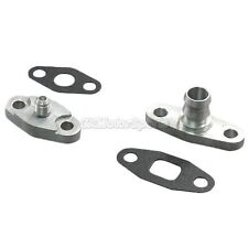 4AN Turbo Oil Feed + Drain Flange Adaptor For T3 T4 T04E