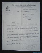 █ Ancienne lettre La COMPAGNIE NATIONALE DE PREVOYANCE (CNP) rue Blanche Paris █