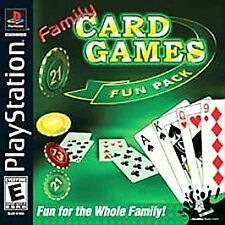 Family Card Games Fun Pack (Sony PlayStation 1, 2003)