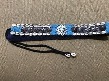 Artisan Shelby Hansen Handmade Belt Blue Brown Beads Seashells Womans NWOT