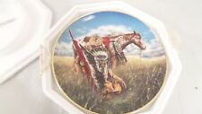 Vtg Franklin Mint Warrior of the Plains American Indian Heritage Collector Plate