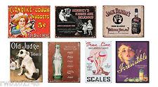 Vintage Retro Advertising TIN SIGN LOT metal poster home bar garage wall decor