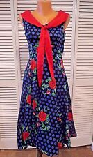 Hearts And Roses H&R Rose Marie Day Retro 50s Rockabilly Dress  Sz US 12 UK 16